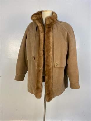 Lady's Vintage Convertible Fur Coat / Vest