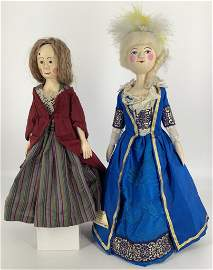 (2) artist made replicas of early dolls. Includes 13""