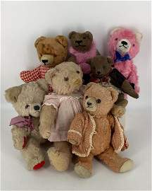 "Lot of vintage teddy bears; 9""- 13"". Conditions as"