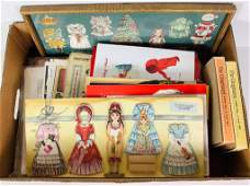 Lot miscellaneous paper dolls and dolly coloring books.