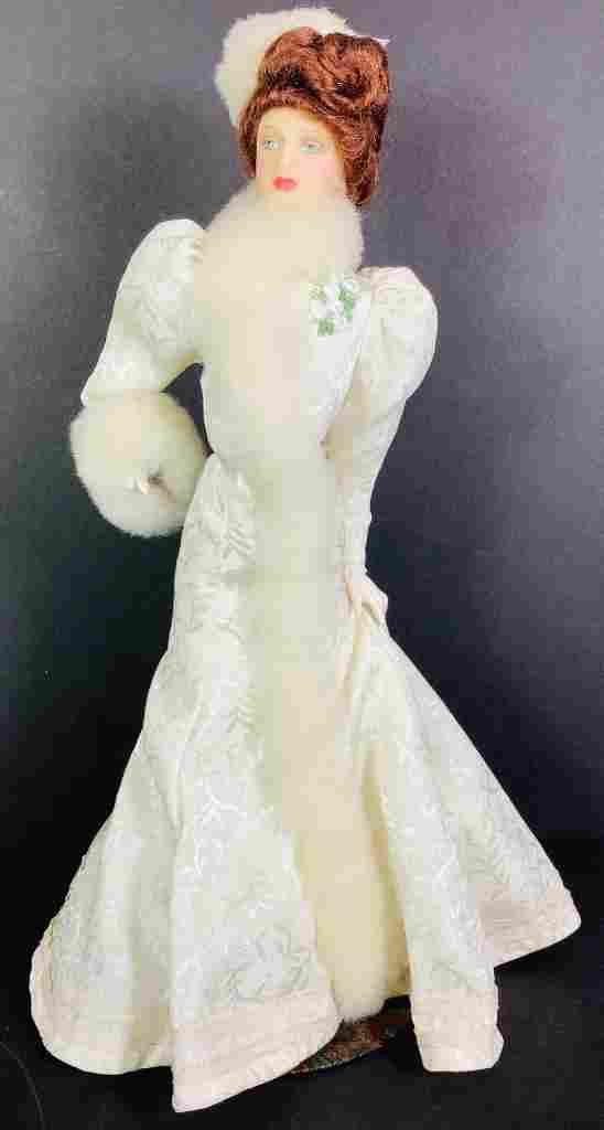 """16¼"""" (overall) Lewis Sorensen wax portrait doll Gibson"""