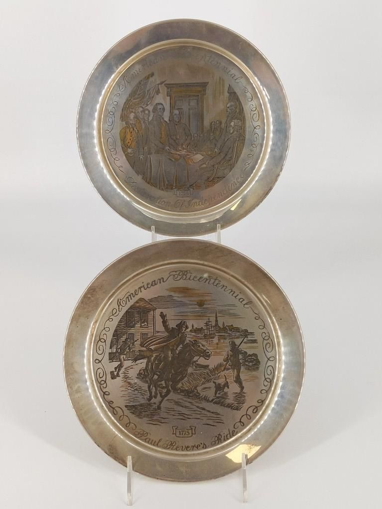 Two Sterling Silver Collector's Plates