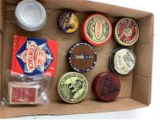 Lot of different types of leather polish . Two games