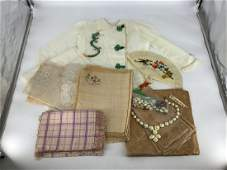 Lot including child's embroidered silk Asian 2 piece