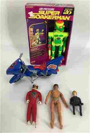 (5) items - Super Soakerman Robot-Batman Motorcycle-3