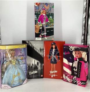 (5) Barbies including Calvin Klein Jean Barbie-Donna
