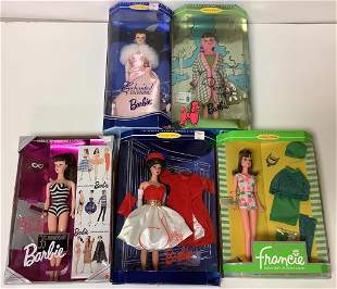 (5) Vintage Reproduction Barbies&Francie-Silken Flame