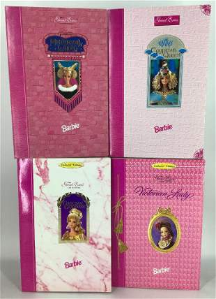 (4) Barbies of Great Eras Collection-Egyptian Queen