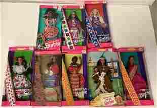 (8) Barbie Dolls of the World -