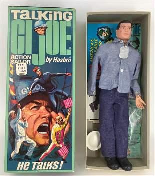 Vintage G.I. Joe Talking Action Sailor in original box.