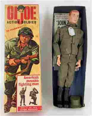 Vintage G.I. Joe Action Soldier in original box. Comes