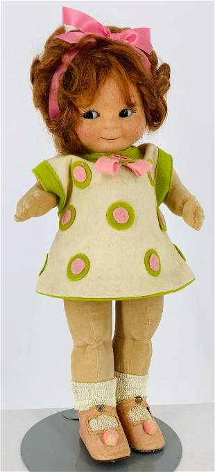 """15"""" Chad Valley """"Bambina"""". All cloth doll with molded"""