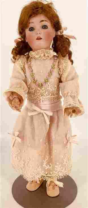"18"" Kestner ""Daisy"" bisque socket head doll. Human hair"