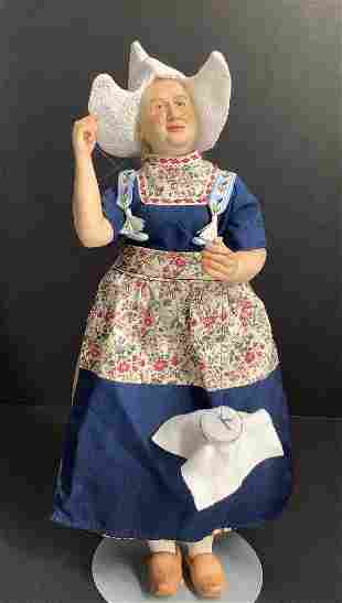 """12 1/2"""" One-of-a-Kind porcelain character doll by"""