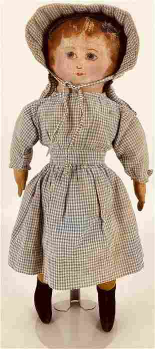 """16"""" Cloth Girl. Head is three piece construction with"""