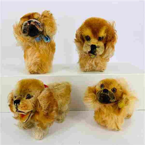 "Lot (4) Steiff mohair ""Peky"" pekinese dogs. Includes"