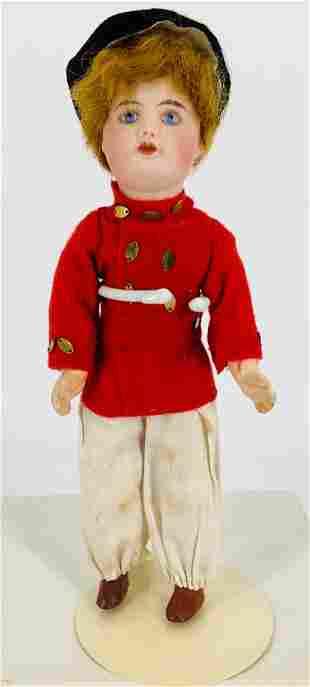 "8"" S.F.B.J. 60 bisque socket head doll. Applied mohair"