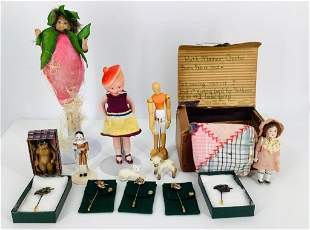 Lot of miscellaneous items including miniature doll