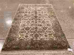 Oriental rug, Indo Tabriz, 6 ′ x 9 ′