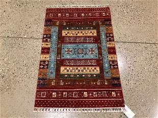 Oriental rug, Afghani Gabbeh pictorial, 2 ′8