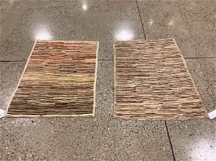 2 oriental rugs, Afghani Gabbeh, 2 ′8 &