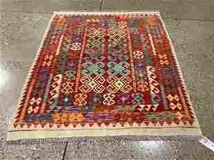 Oriental rug, Turkish Caucasian Kazak Kilim, 5 &