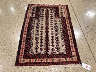 Oriental rug, Balouch, 3 ′3 ″ x 4