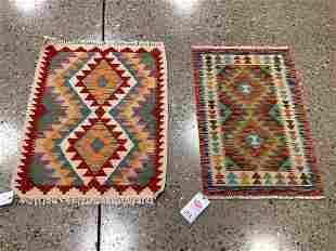 Oriental rug, (2) Turkish village kilims, 1 ′