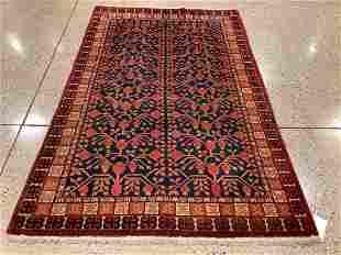 Oriental rug, East Turkestan Khotan rug, pomegranate