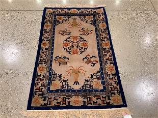 Chinese rug, Peking silk and wool, 3 ′ x 5