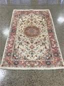 Oriental rug, Tabriz silk and wool, 4 ′1 &