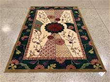 Oriental rug, Chinese Art Deco style silk and wool rug,