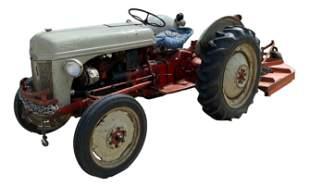 Ford 8n tractor with rear mower, circa 1950. Runs good