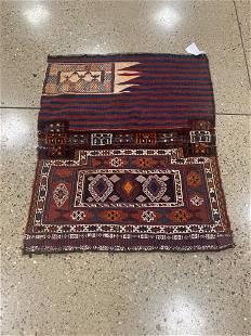 "Oriental rug, Kurdish Soumak rug circa 1950's 3'.4"" x"