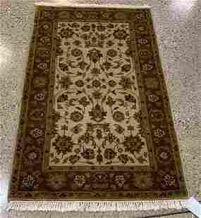 Oriental rug Indo Turkish Oushak rug circa 2010's 3' x