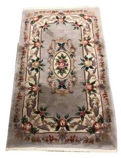 ORIENTAL RUG CHINESE FRENCH AUBUSSON STYLE, 3' X 5'
