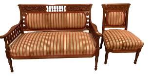 Matching settee (51.5†W x 25†deep; seat height