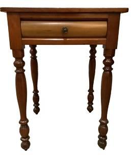 Cherry Sheraton one drawer stand 20.5†W x 18†deep