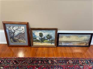 "3 original paintings including ""Sun Laddie"
