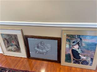 3 prints, Renoir and Degas