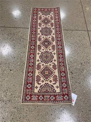 Oriental Afghani Caucasian Kazak runner rug circa