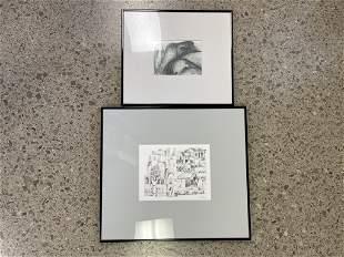 2 Erwin Kalla black and white. City scape is a print,