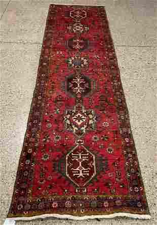 Oriental North West runner rug circa 1960's 3.2' x
