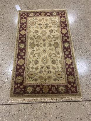 Oriental Indo Turkish Oushak rug circa 2010's 3' x 5'.