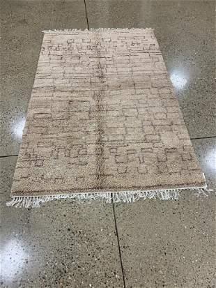 Oriental Indo Turkish Oushak rug circa 2010's 5' x 8'.