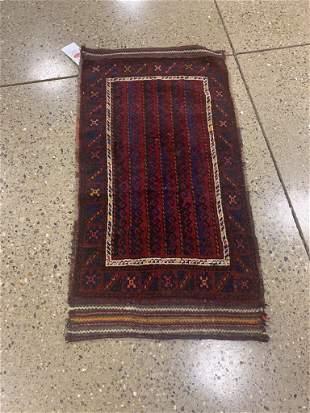 Oriental antique Kurdish rug circa 1930's 2' x 3.9'.
