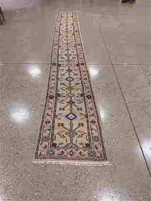 Oriental Indo Turkish Oushak runner rug circa 2010's