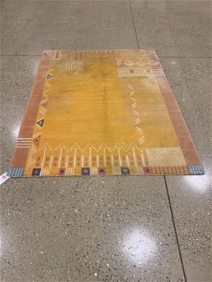 Oriental Indo Gabbeh rug circa 2000's 5.7' x 7.5'.