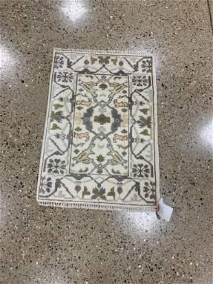 Oriental Indo Turkish Oushak rug circa 2010's 2' x 3'.