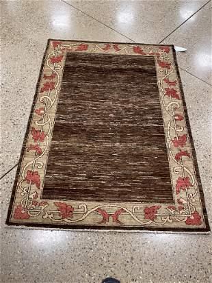 Oriental Pakastani Gabbeh rug circa 2010's 4.4' x 6'.